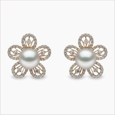 Yoko London Diamond and South Sea Pearl Earrings
