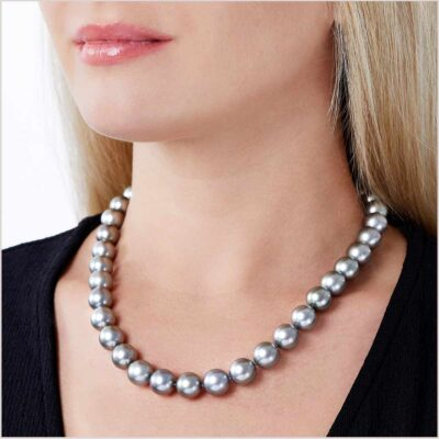 Yoko London Classic Grey Tahitian Pearl Necklace