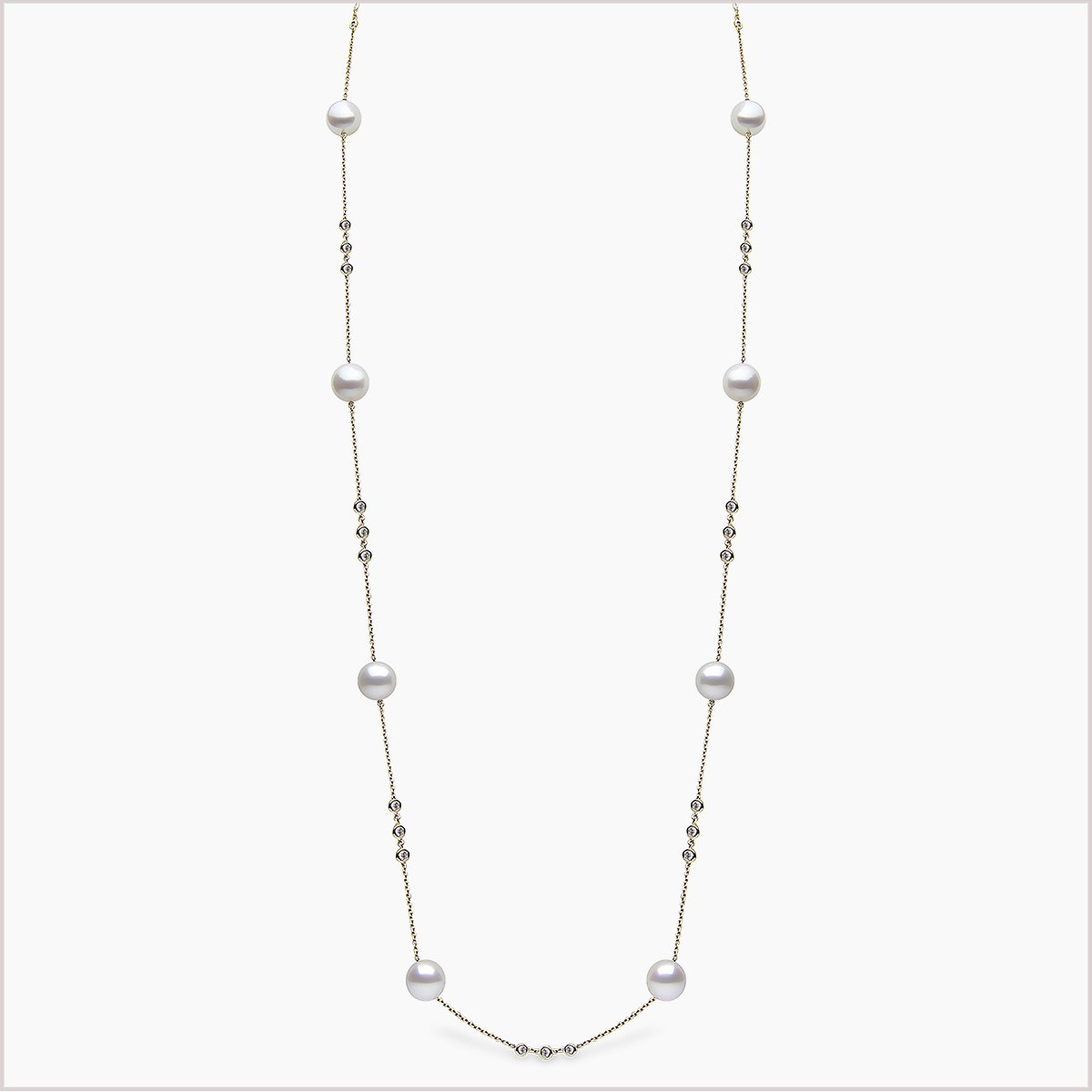 Yoko London Novus Diamond and South Sea Pearl Necklace