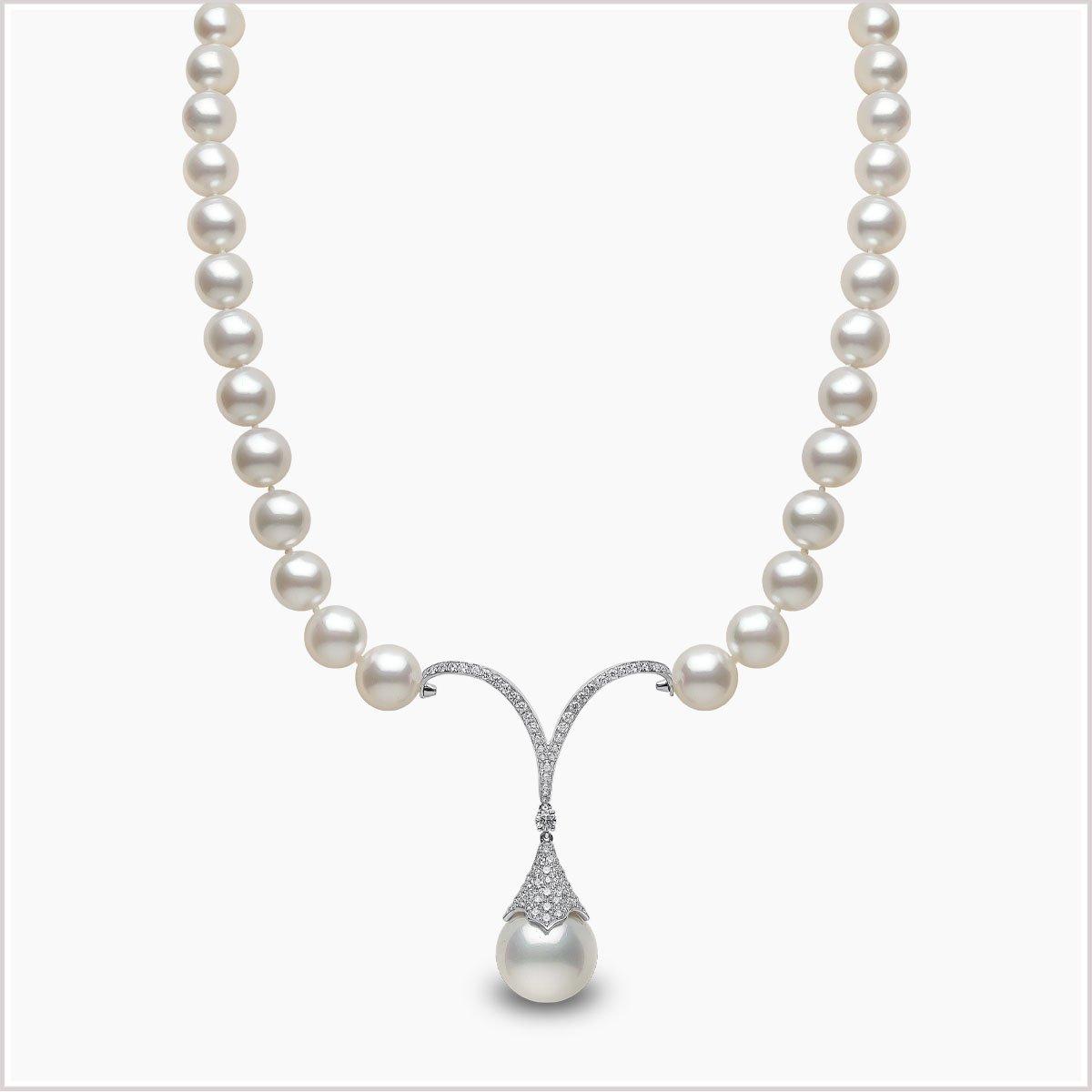 Yoko London Mayfair Diamond and Pearl Necklace