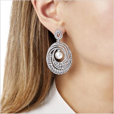 Mayfair South Sea Pearl and Diamond Earrings