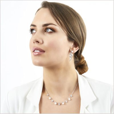 """<span id=""""product-title"""">RAINDROP </span><br><span id=""""product-description"""">AKOYA PEARL AND DIAMOND EARRINGS IN 18CT WHITE GOLD</span>"""