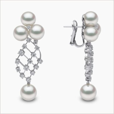 Mayfair South Sea Pearl and Diamond Earrings